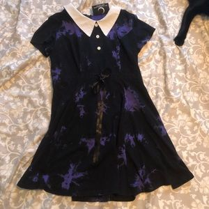Killstar black and purple collared dress